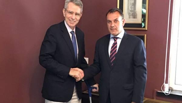 Συνάντηση Παναγιωτόπουλου με τον πρέσβη των ΗΠΑ