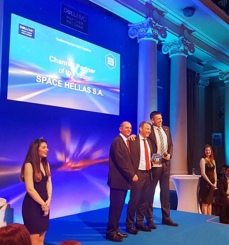 Space Hellas:«Channel Partner of the Year 2018» της Dell EMC