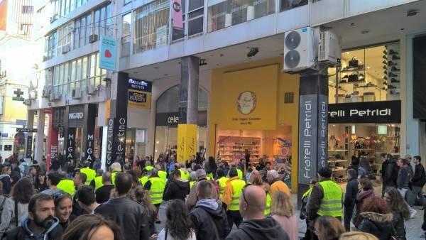 «Κίτρινα Γιλέκα» (και) στο κέντρο της Αθήνας