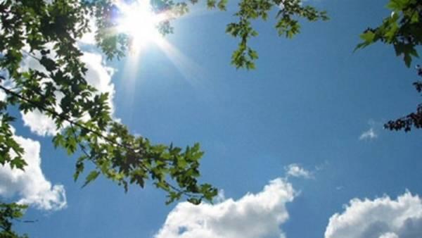 Αίθριος καιρός με ηλιοφάνεια και υψηλές θερμοκρασίες