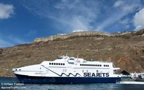 Seajets: Αναχώρησε για το δρομολόγιό του το Andros Jet